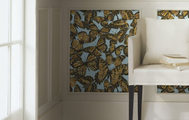 Bring some butterflies into your home in 2017 - even on wallpaper. The Jeweled Monarch pattern is from the Urban Chic collection from York Wallcoverings, yorkwall.com. (Photo courtesy York Wallcoverings)