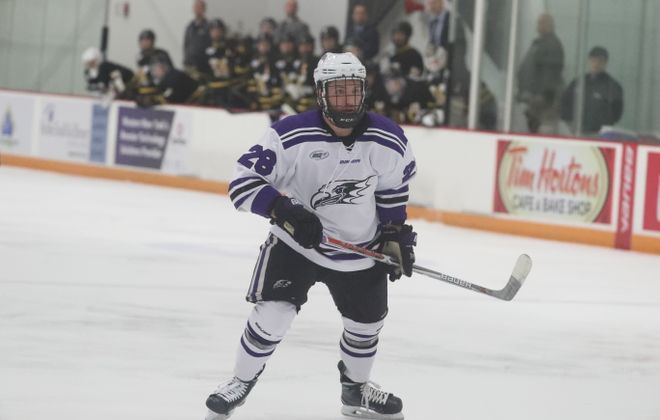 Nicolas Carrier has five points in his last five games for Niagara. (Niagara Athletic Communications)