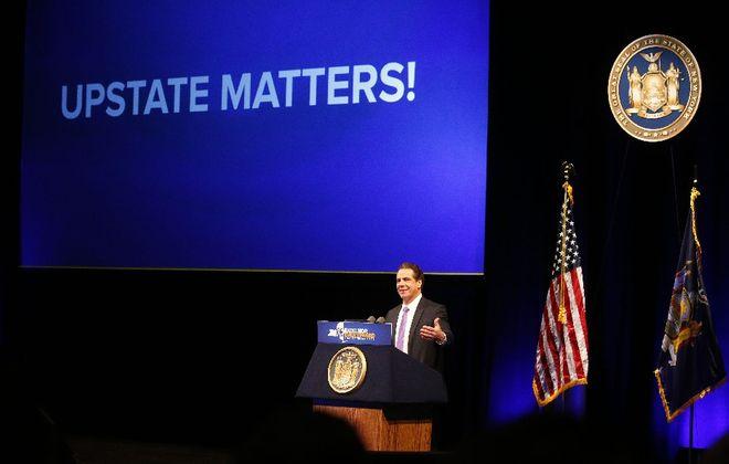 Gov. Andrew M. Cuomo and state legislators are at odds over how much oversight the Legislature should have over economic development efforts like the Buffalo Billion II. (Mark Mulville/Buffalo News file photo)