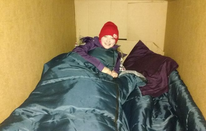 Kenmore-Town of Tonawanda students SleepOut in refrigerator boxes to raise funds for homeless in their community