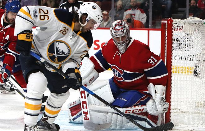 Matt Moulson had a scoring opportunity early against Carey Price (Jean-Yves Ahern/USA TODAY Sports)