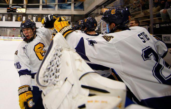 Matt McLeod scored his first collegiate goal for Canisius. (Harry Scull Jr./Buffalo News)
