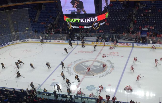 Live coverage: Detroit Red Wings at Buffalo Sabres