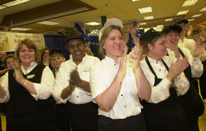 Wegman's Employees celebrate at the Dick road store. (News file photo)