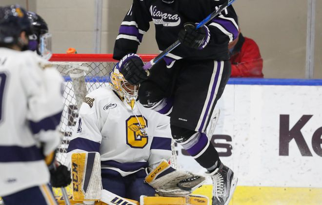 Charles Williams has the best save percentage in the country. (Harry Scull Jr./Buffalo News)