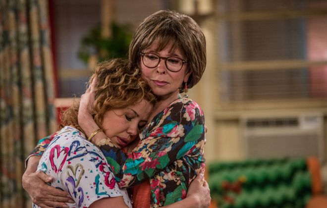 "Justina Machado as Penelope and Rita Moreno as Lydia in Netflix's reimagining of Norman Lear's classic sitcom ""One Day at a Time."" (Michael Yarish/Netflix)"
