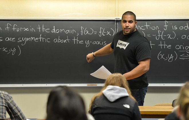 John Urschel draws more than X's and O's when he goes to a chalkboard.