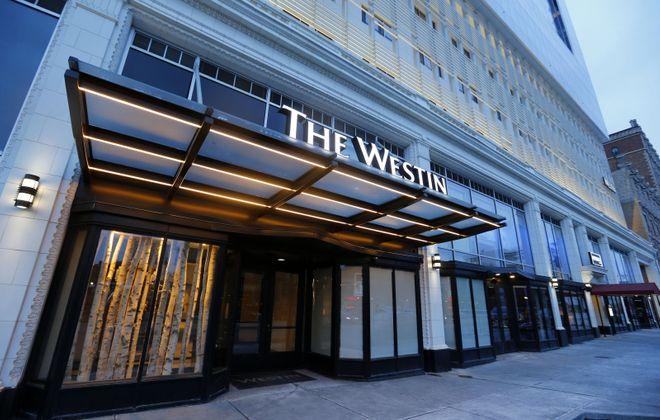 The Westin hotel on Delaware in Buffalo has closed. (Mark Mulville/Buffalo News)