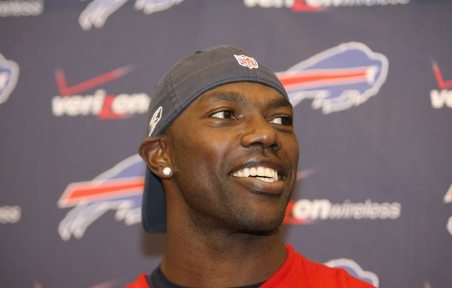 Former Buffalo Bills receiver Terrell Owens spoke Wednesday night for the first time since being left out of the Pro Football Hall of Fame earlier this month. (James P. McCoy/Buffalo News)