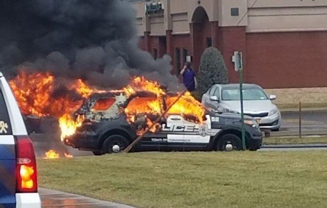 Town of Tonawanda police cruiser erupted in flames on Jan. 12
