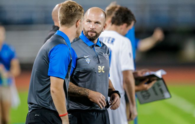 University at Buffalo's head coach, Davie Carmichael, will join Cal Poly as a volunteer assistant. (UB Athletics)