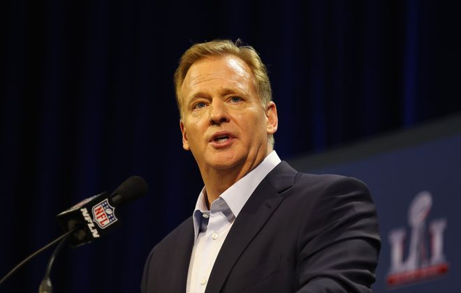 NFL commissioner Roger Goodell says football is safer than when he played it. (Getty Images)