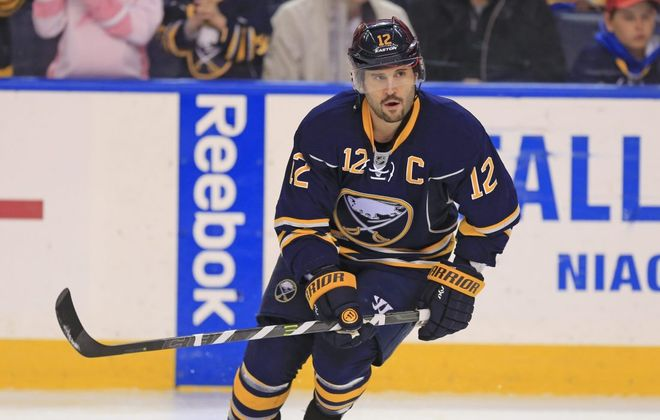 Brian Gionta wants to stay with the Sabres (Harry Scull Jr./Buffalo News file photo).
