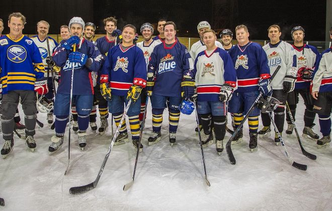 Smiles from a few of the teams competing in the 2016 Labatt Blue Pond Hockey Tournament. (Don Nieman/Special to The News)