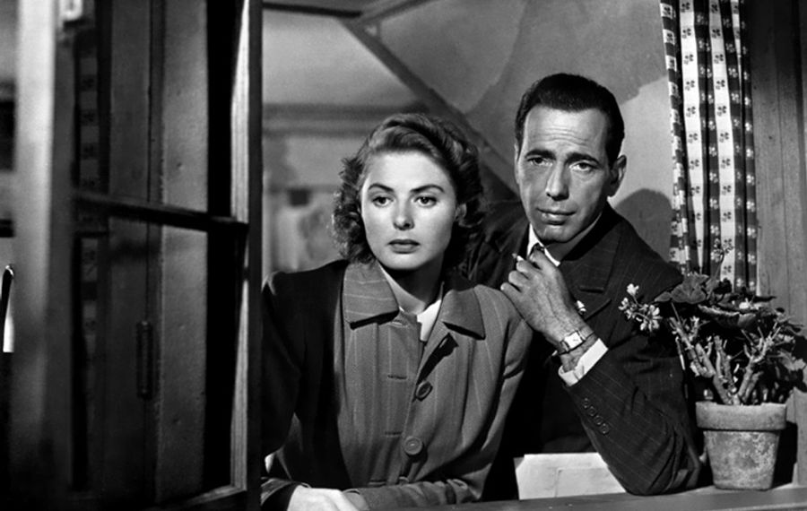 "Ingrid Bergman and Humphrey Bogart will always have Paris in the classic romance ""Casablanca."""