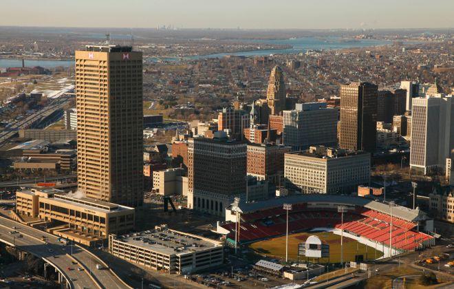 Aerial view of downtown Buffalo. (Derek Gee/ Buffalo News file photo)