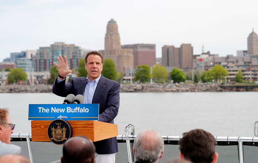 If Gov. Andrew M. Cuomo has presidential ambitions, development efforts like the Buffalo Billion could be a double-edged sword, burnishing his reputation for reviving the upstate economy but also alienating progressives opposed to 'corporate welfare.'  (Mark Mulville/News file photo)