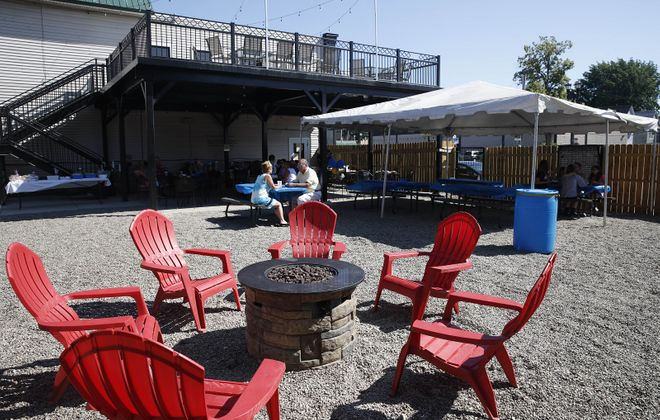 The Blackthorn Restaurant & Pub at 2134 Seneca St. added a new patio in 2017. The bar-restaurant will open June 4 for outdoor eating only. (Sharon Cantillon/News file photo)