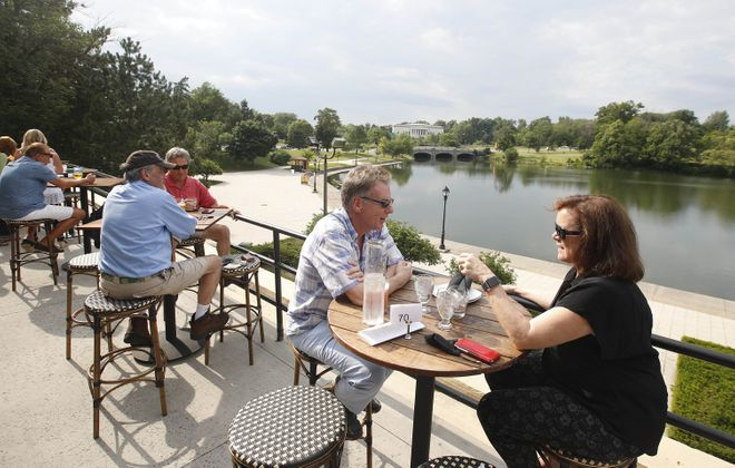 The Terrace at Delaware Park offers views overlooking Hoyt Lake. (Sharon Cantillon/Buffalo News file photo)