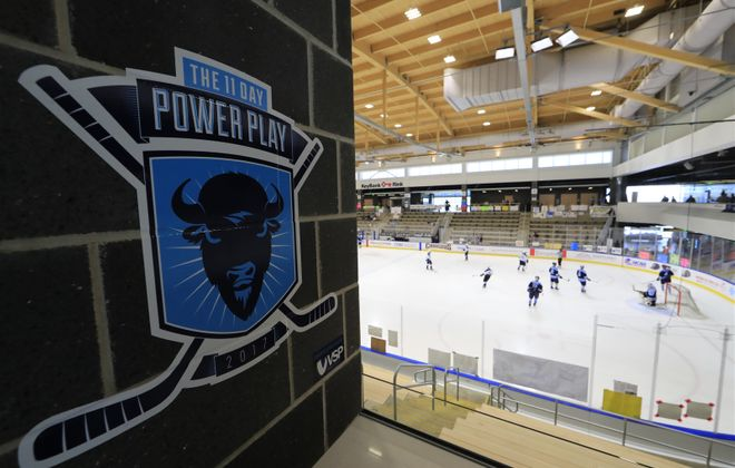 The 11 Day Power Play: Two teams from Buffalo set an unofficial record Sunday for the longest continuous hockey game in world history. (Harry Scull Jr./Buffalo News)