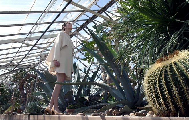 Designer Alicia Marvan chose the Botanical Gardens as the backdrop for her Spring/Summer 2017 collection to reflect the ecological aspect of her company and the inpsiration she finds in plants. (Studio Avli)