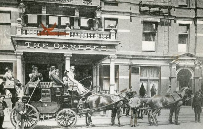 The Genesee Hotel preceded the 16-story Genesee Building, built in 1922 and later home of the Hyatt Regency. (News file photo)