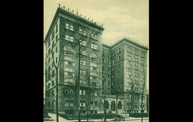 """A view of the Lenox Hotel from """"Buffalo: Old and New,"""" published in 1901. It was once the home of author F. Scott Fitzgerald."""