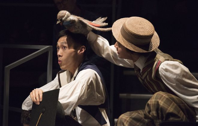 "Jonathan Tan and Emily Lukasik appear in the Shaw Festival's production of ""Wilde Tales."" (Photo by David Cooper)"