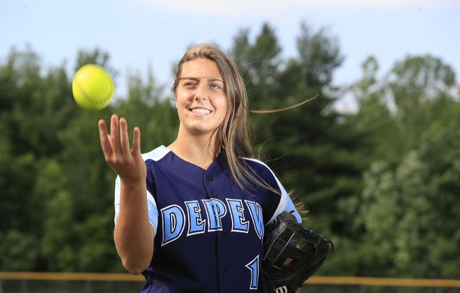 Karsen Cotton led Depew to its first ever appearance in a state championship game last spring, capping a six-year career in which she won 18 playoff games for the Wildcats. (Harry Scull Jr./Buffalo News)