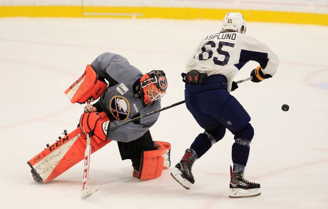 Rasmus Asplund had some impressive offensive moves during Sabres' development camp. (Harry Scull Jr./Buffalo News)