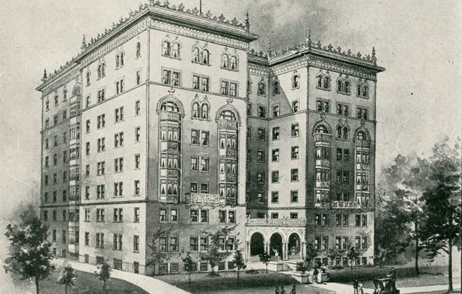 The Lenox Hotel in 1901.
