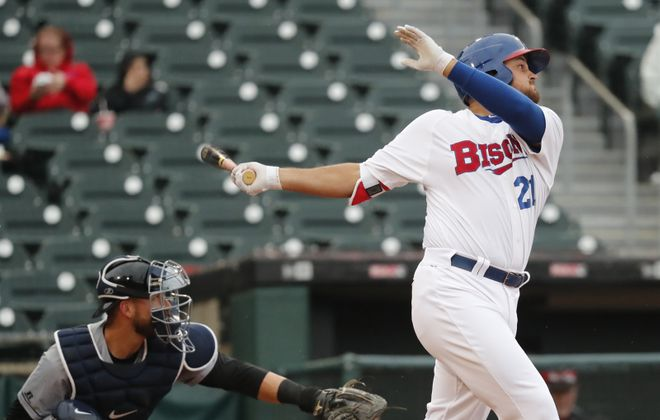 Rowdy Tellez led the Bisons with 13 home runs in 2018. (Harry Scull Jr./News file photo)
