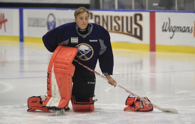 Buffalo Sabres prospect Ukko-Pekka Luukkonen. (Harry Scull Jr./News file photo)