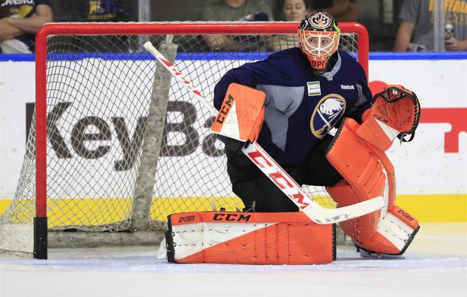 Sabres goalie prospect Ukko-Pekka Luukkonen  (Harry Scull Jr./News file photo)