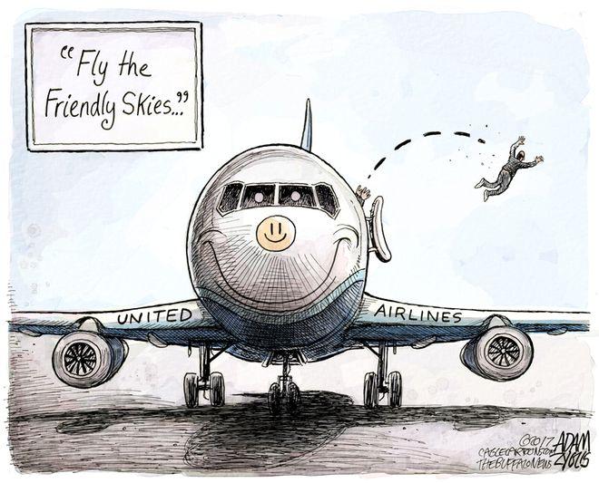 Adam Zyglis: United Airlines
