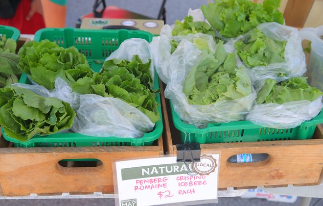 The farmers market at Roswell Park Cancer Institute will return in June. (John Hickey/Buffalo News)