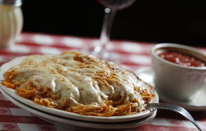 The spaghetti parm at Chef's is pure comfort food. (Sharon Cantillon/News file photo)