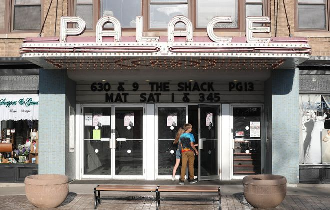 Hamburg Palace is an independently owned movie theater at 31 Buffalo St. in Hamburg.  It opened in 1926. (Sharon Cantillon/Buffalo News)