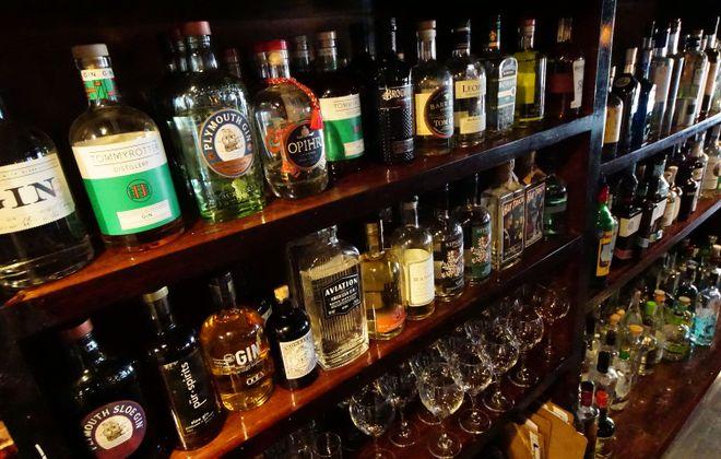 Aro Bar de Tapas 'gintoneria' features over 230 kind of gin. (Photo Aro Bar de Tapas.)