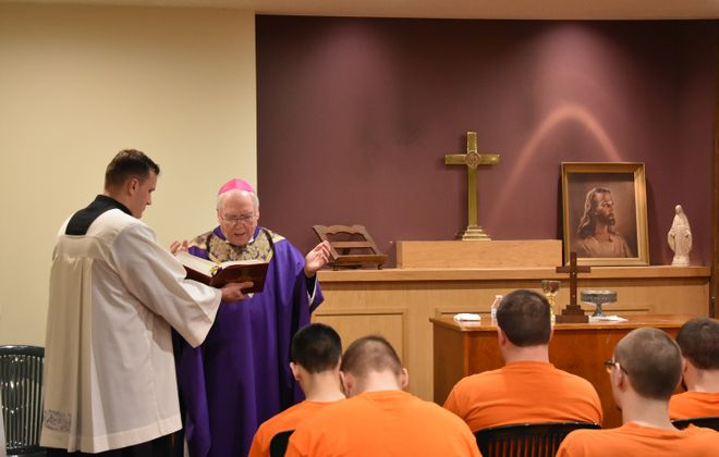 Bishop offers Catholic Mass Sunday for Erie County Holding Center inmates
