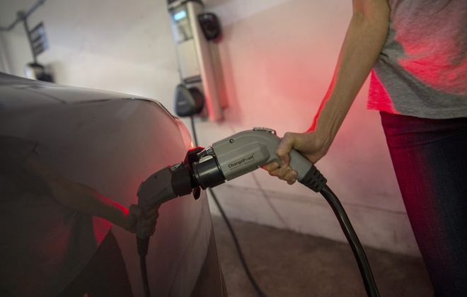 The town also will install a dedicated charging station for its electric vehicle.  (Monica Almeida/New York Times file photo)