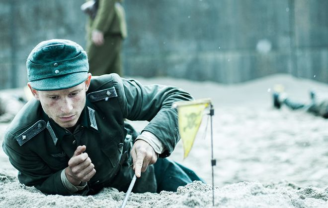 """""""Land of Mine"""" is a gut-wrenching film with roots in reality of teenage POWs forced to clear land mines in World War II."""