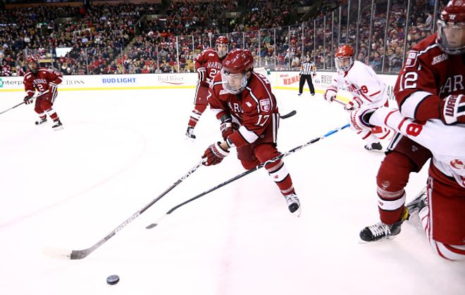 Sean Malone had 18 goals this season for Harvard (Getty Images).