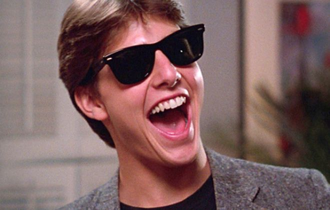 """Risky Business"" starring Tom Cruise will be shown at the Riviera Theatre."