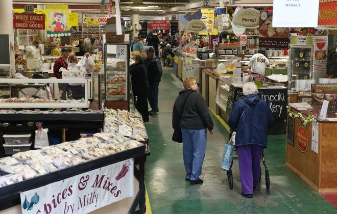 The city is making improvements to get shoppers who pack the Broadway Market during Easter week to come back at other times of the year. (Sharon Cantillon/Buffalo News)