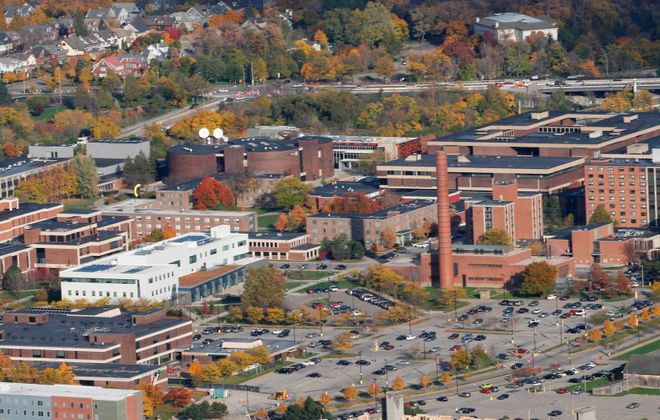An aerial shot of the Buffalo State College campus. (Derek Gee/News file photo)