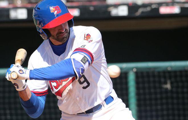 Jason Leblebijian ranks in the top 10 in the IL in home runs. (Derek Gee/Buffalo News File Photo)