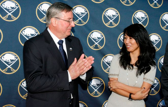 Mike Harrington writes Terry Pegula and his wife, Kim, need to find a hockey president -- and then get out of the way. (James P. McCoy/Buffalo News file photo)