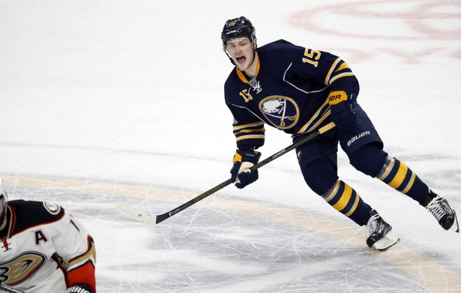 Jack Eichel is the face of the franchise, but is he mature enough to be Sabres captain? (Photo by Harry Scull Jr./Buffalo News)