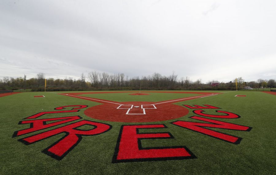 Athletic upgrades were made to the baseball field at Clarence High School, shown here in 2017. The state Dormitory Authority recently approved $25.8 million in low-cost, tax-exempt bonds to pay for those and other district improvements. (Harry Scull Jr./Buffalo News)
